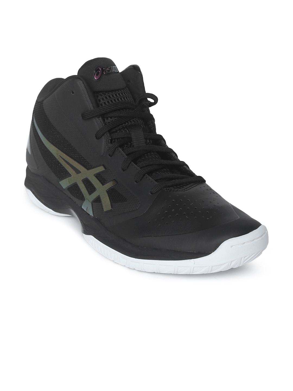 5c5e92682a20 Buy ASICS Men Black GELHOOP V 10 Basketball Shoes - Sports Shoes for ...