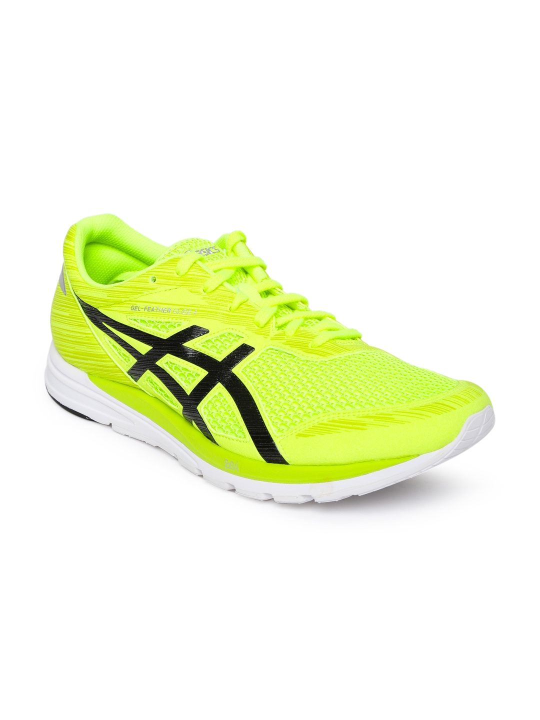 199f4afec01c4 Buy ASICS Men Fluorescent Green Running Shoes GEL FEATHER GLIDE 4 ...