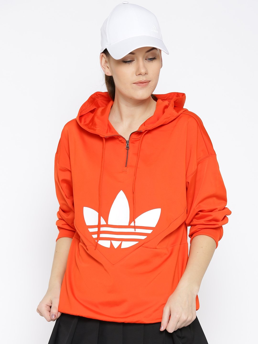 d40196831f0 Buy ADIDAS Originals Women Orange CLRDO OG Printed Hooded Sweatshirt ...
