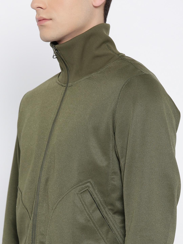 a549e4a39ea Buy ADIDAS Originals Men Olive Green XBYO Solid Track Jacket ...