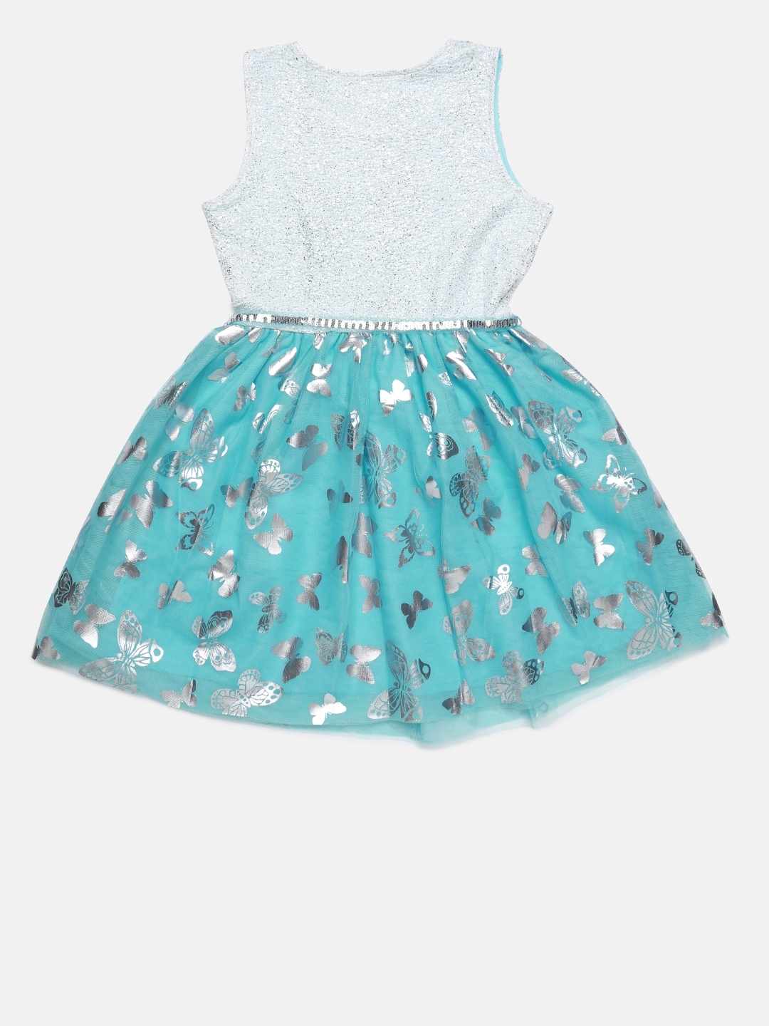 7338e675 Buy The Childrens Place Girls Blue Printed Fit And Flare Dress ...