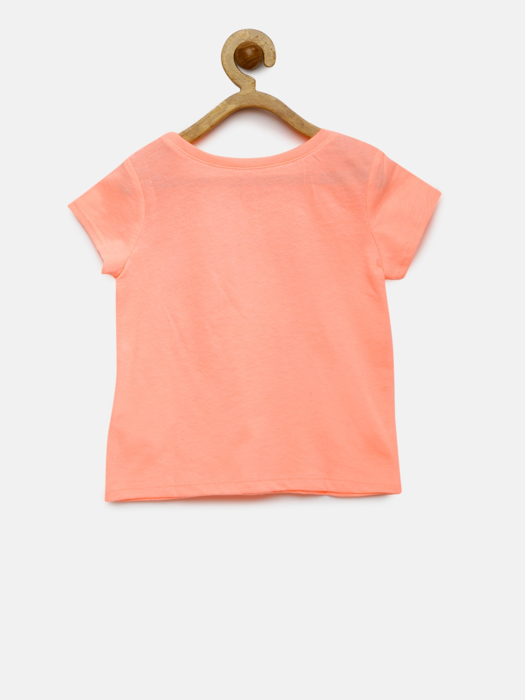 746f2f09b Buy The Childrens Place Girls Peach Coloured Printed Round Neck T ...