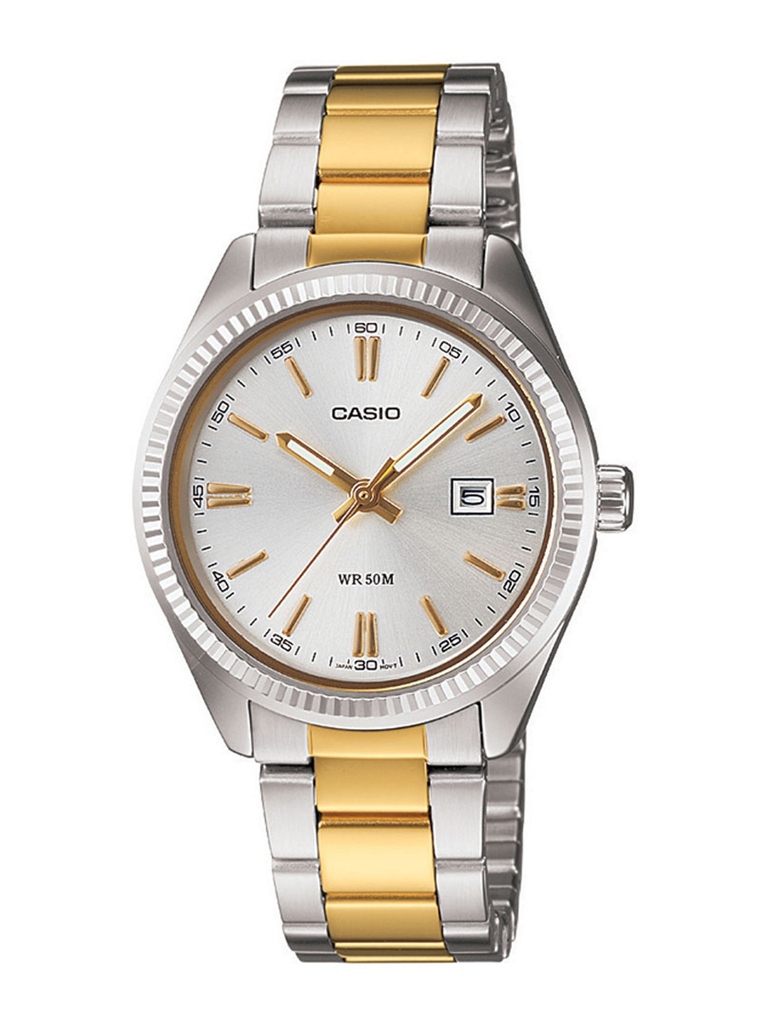 Casio Enticer Women White Dial Analogue Watch LTP 1302SG 7AVDF A478