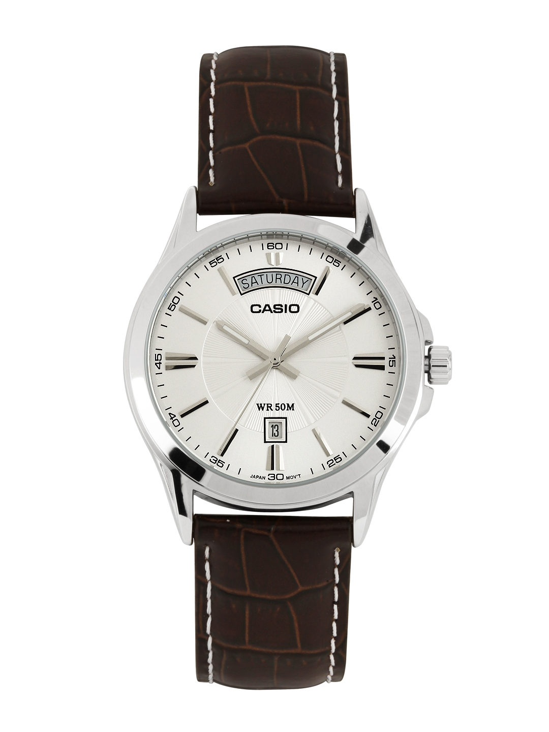 Casio Enticer Men White Analogue watch A845 MTP 1381L 7AVDF