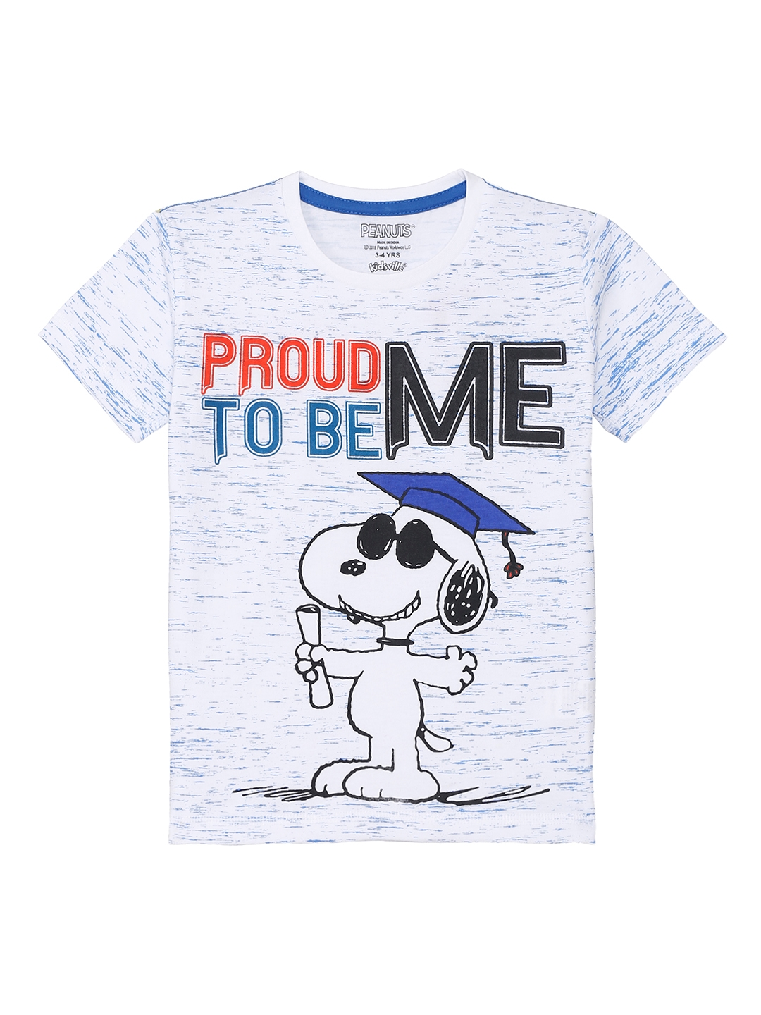 324989d6 Buy Peanuts By Kidsville Boys Off White Printed Round Neck T Shirt ...
