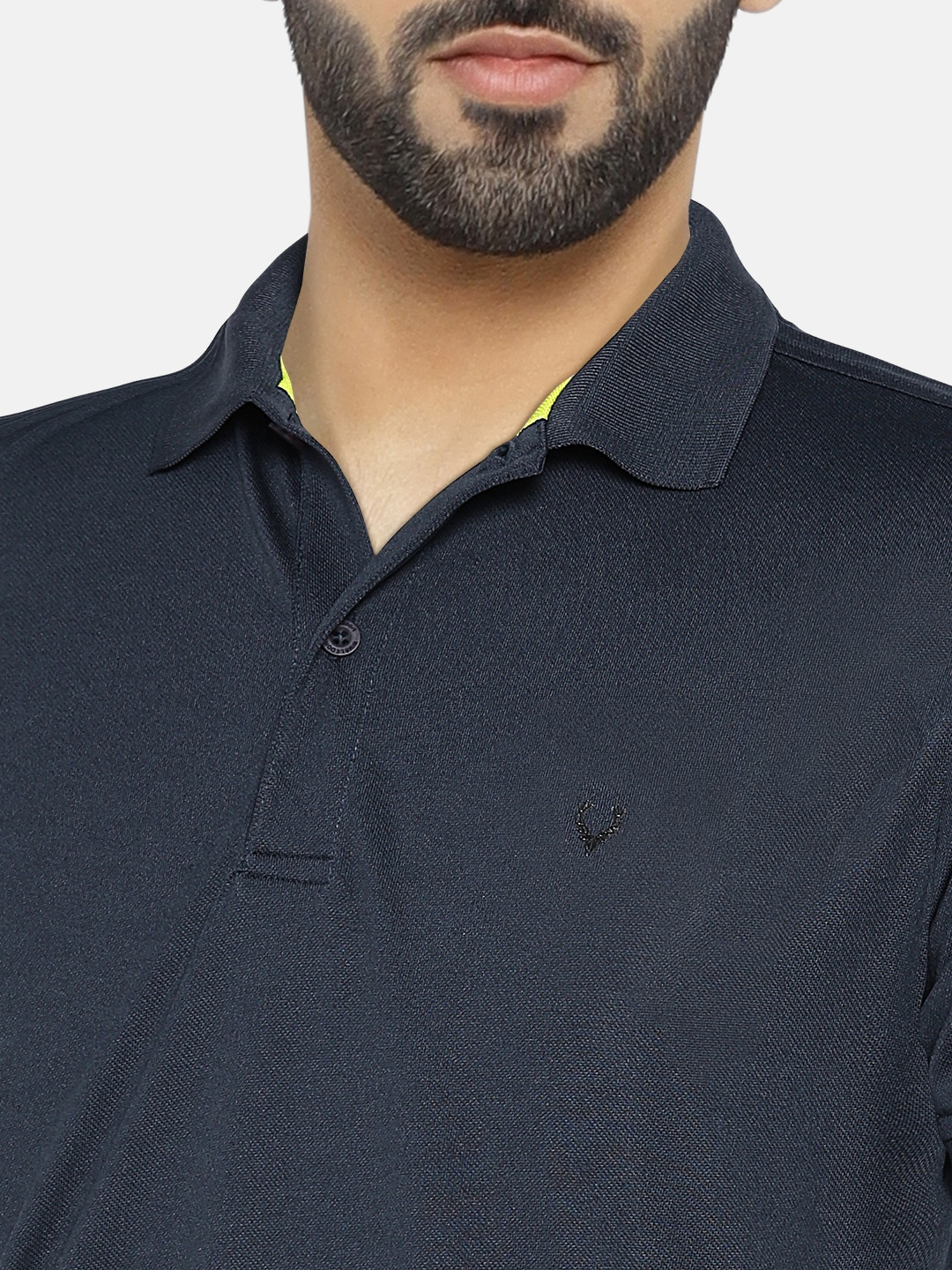 Buy Solly Sport Men Navy Solid Wimbledon Polo Collar T Shirt