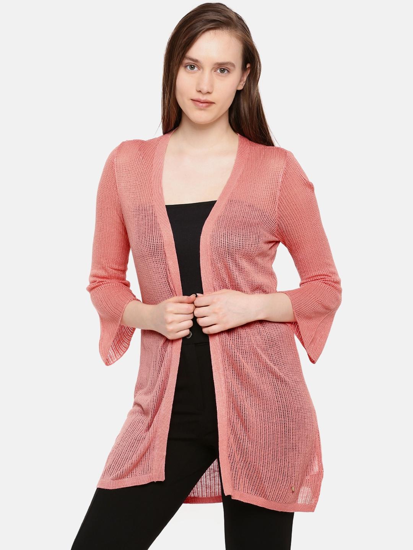 2cbf14c77 Buy Elle Pink Solid Open Front Shrug - Shrug for Women 2513299