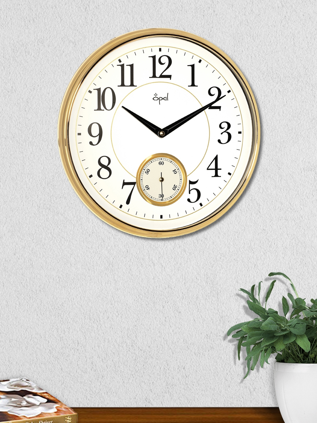 Buy Opal White Round Solid Analogue Wall Clock Clocks For Unisex