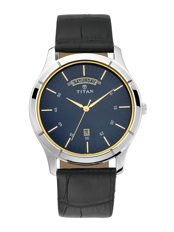 Titan Men Blue Analogue Watch