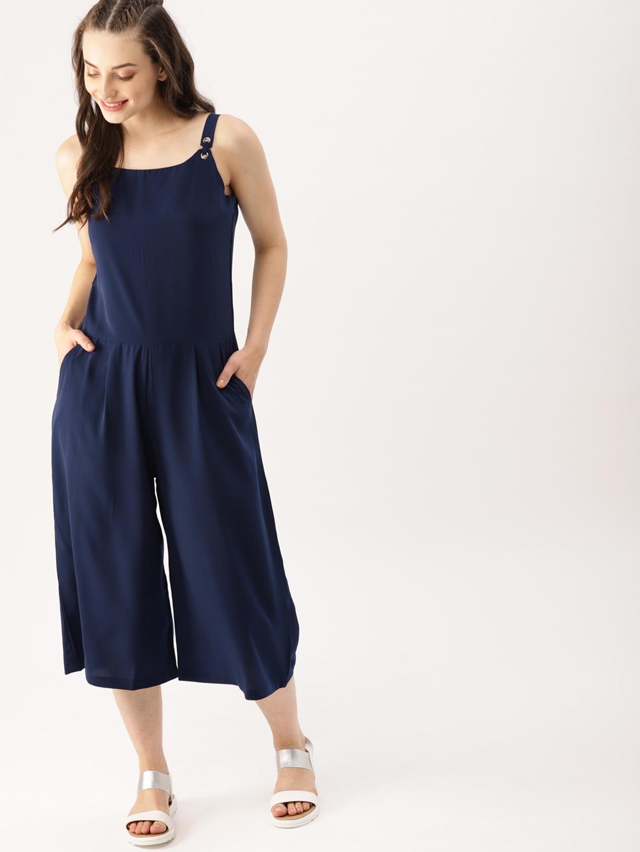 a16672d059f3 Buy DressBerry Navy Blue Solid Culotte Jumpsuit - Jumpsuit for Women ...