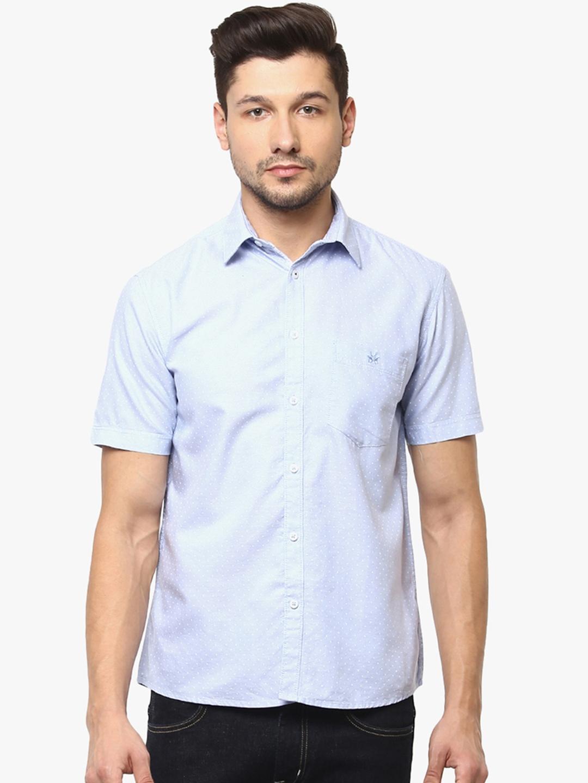 9ccedadb Buy Crimsoune Club Men Blue & Blue Slim Fit Printed Casual Shirt ...
