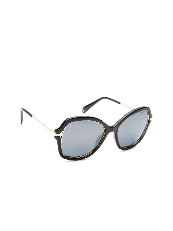33c3d9c9f2a Polaroid Women Polarised Mirrored Butterfly Sunglasses PLD 4068 S 2M2 55LM
