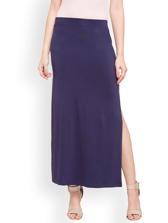 e5b58995c8 Buy Globus Women Navy Blue Long Skirt - Skirts for Women 2525665 ...