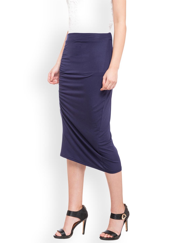 d60181bc77 Buy Globus Women Navy Blue Pencil Skirt - Skirts for Women 2525853 ...