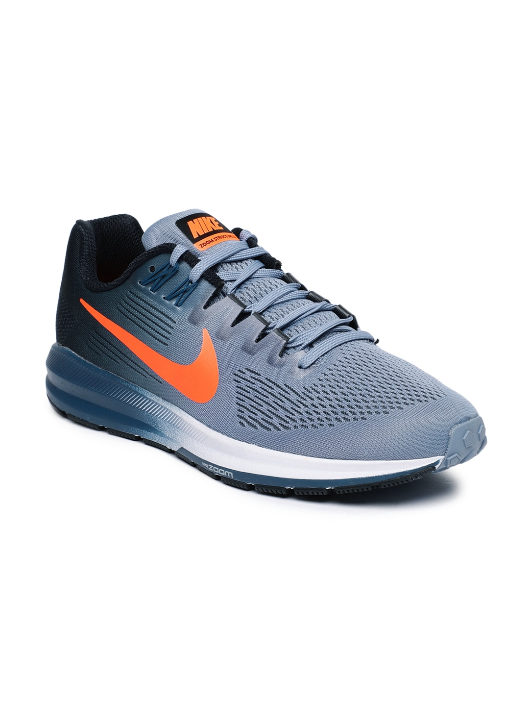 anunciar salchicha Amigo  Buy Nike Men Blue & Black Air Zoom Structure 21 Running Shoes - Sports Shoes  for Men 2528123 | Myntra