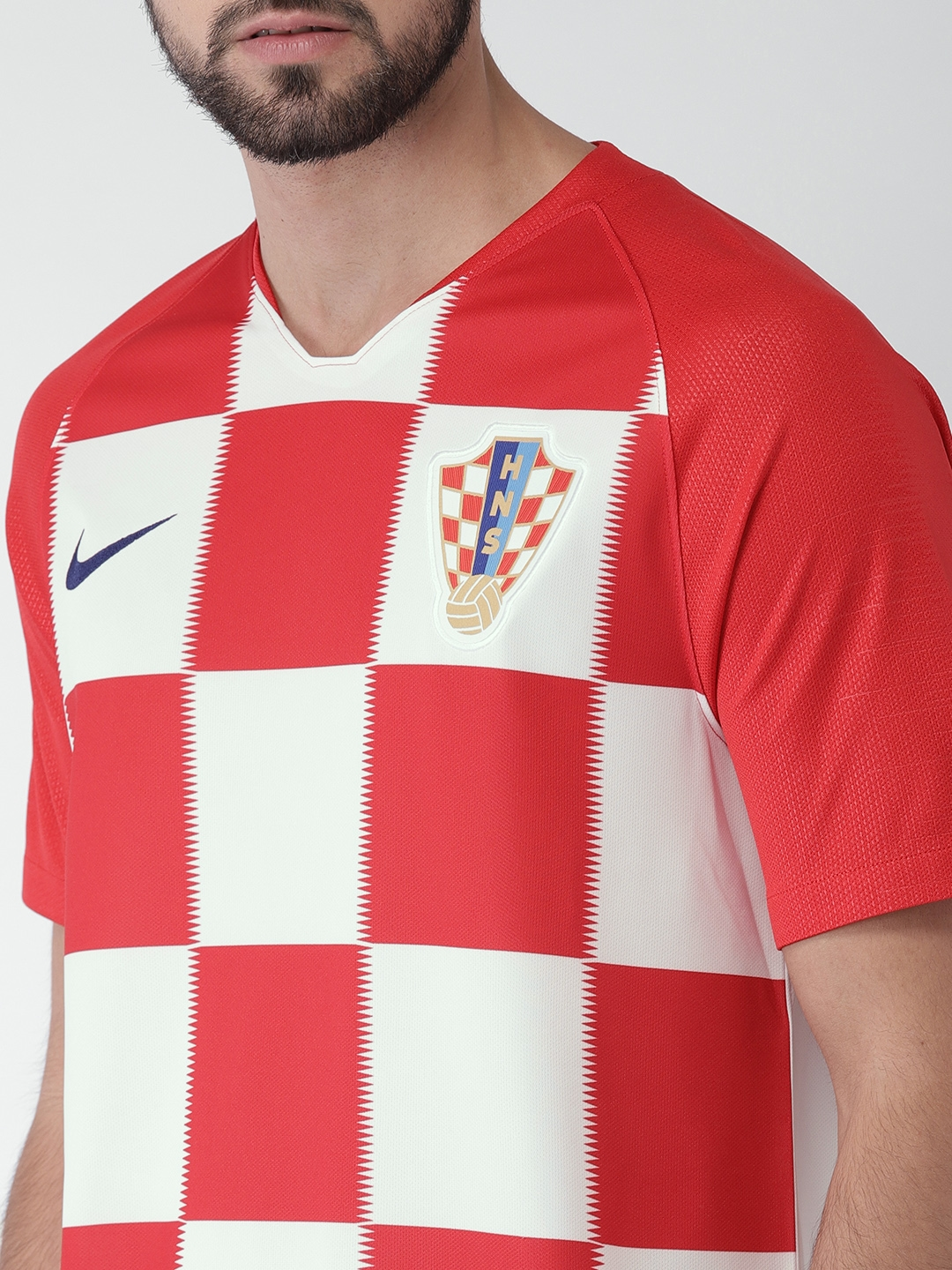ab2bdccc Buy Nike Men Red & White Checked Croatia Stadium Home Jersey ...