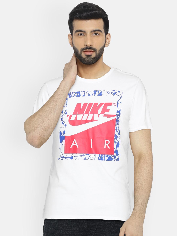 d89d17b2 Buy Nike White Printed AS M NSW TEE NIKE AIR HBR T Shirt - Tshirts ...