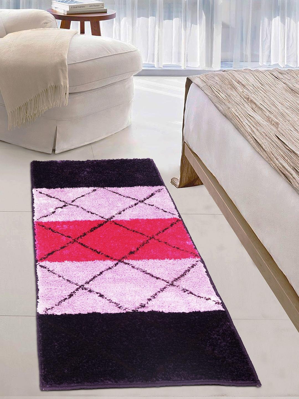Story Home Purple Pink Striped Carpet