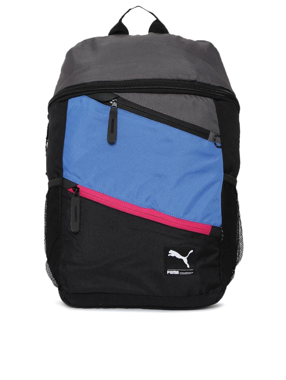 316d817484a Buy Puma Unisex Black & Grey Colourblocked Foundation Prime Backpack -  Backpacks for Unisex 255724 | Myntra