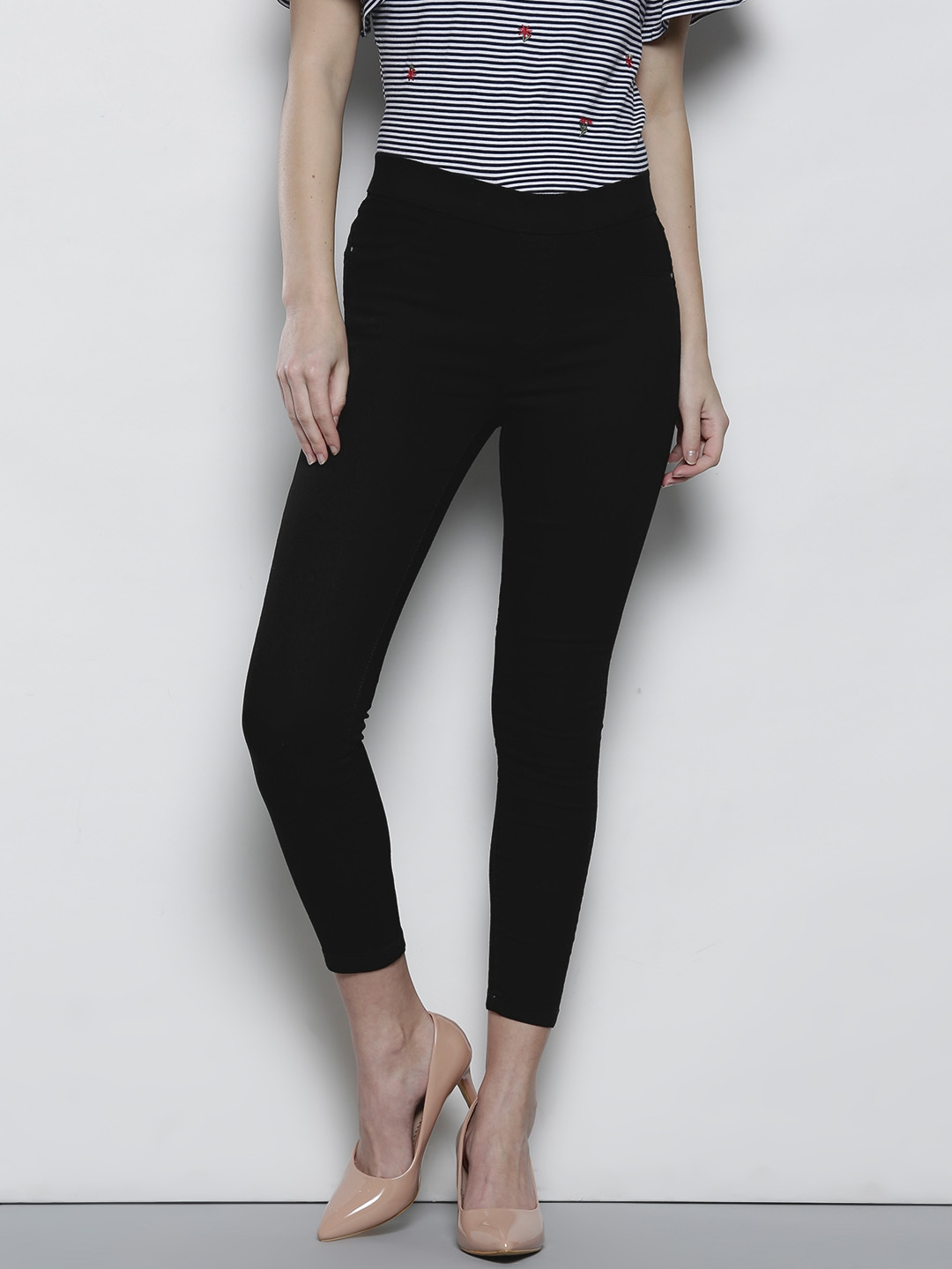 4e6fc34e7aa20 Buy DOROTHY PERKINS Black Ankle Length Jeggings - Jeggings for Women ...