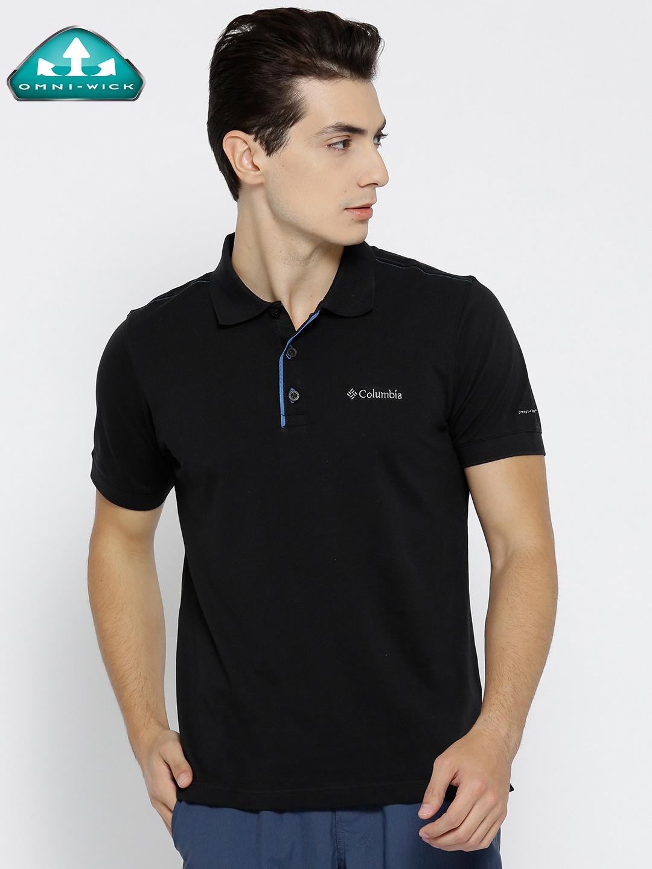 Buy Columbia Men Black Solid Cascade Range Outdoor Polo T Shirt