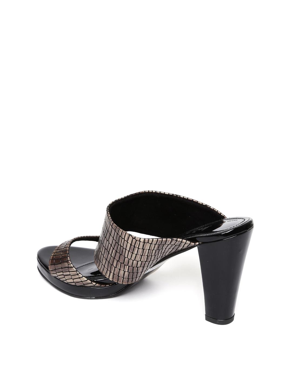 Buy Inc 5 Women Gold Toned Woven Design Sandals Heels for