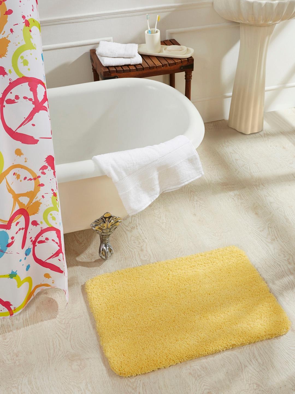 Obsessions Yellow Rectangular Bath Mat