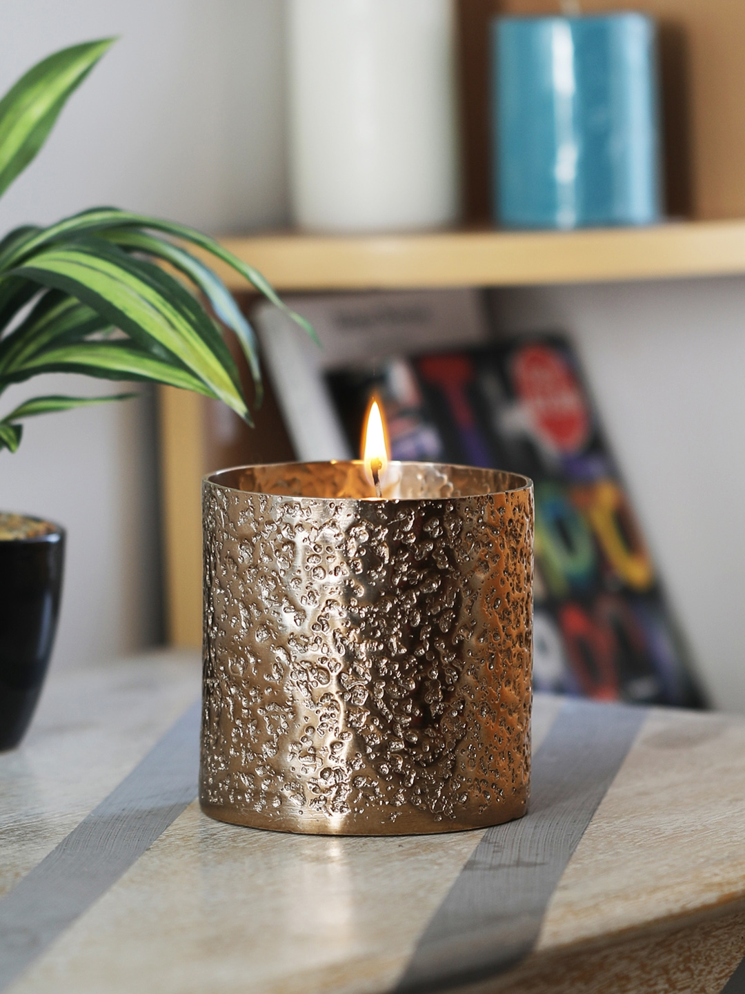 HOME DECOR INDIA Texture Candle