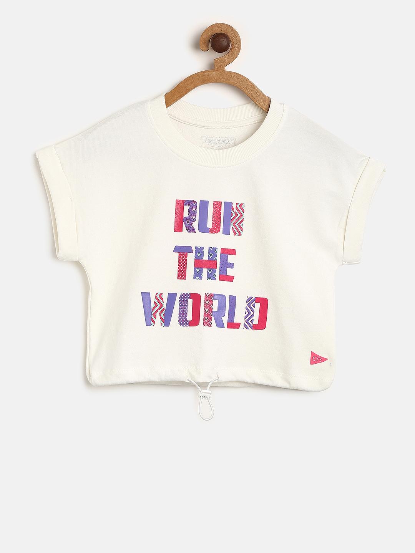 cd5c3669 Buy Cherokee Girls Off White Printed Round Neck T Shirt - Tshirts ...