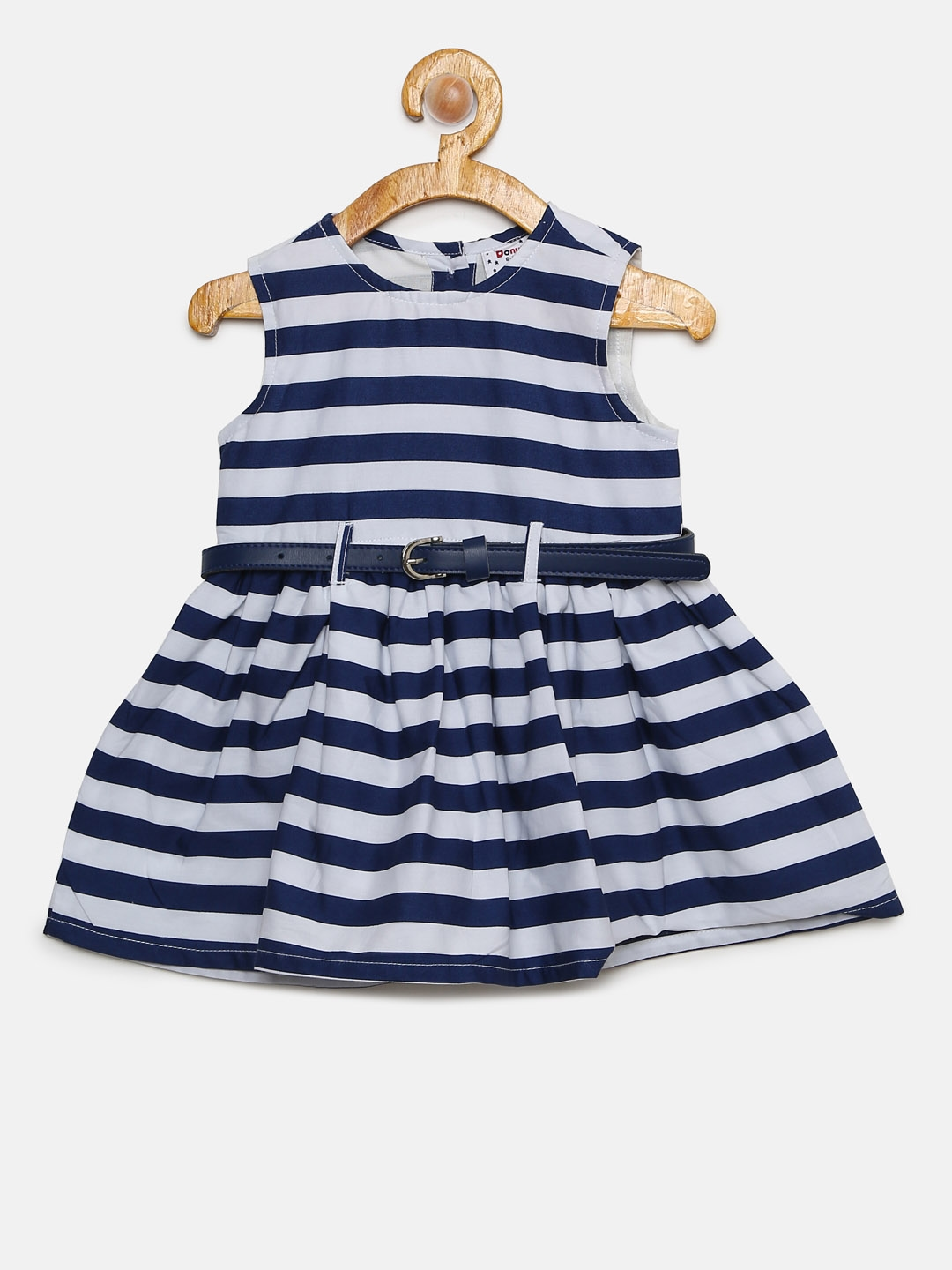 6f965ec32 Buy Donuts Girls Navy   White Striped Fit And Flare Dress - Dresses ...