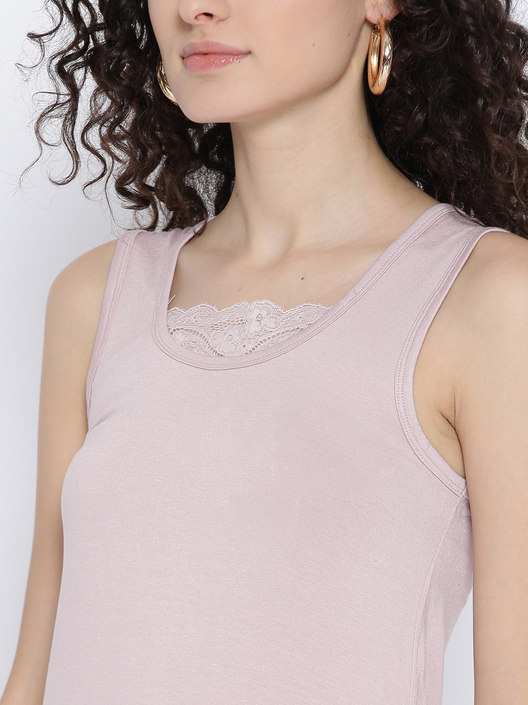 19034e7c074d2 Buy OVS Women Light Pink Lace Detail Top - Tops for Women 2957562 ...