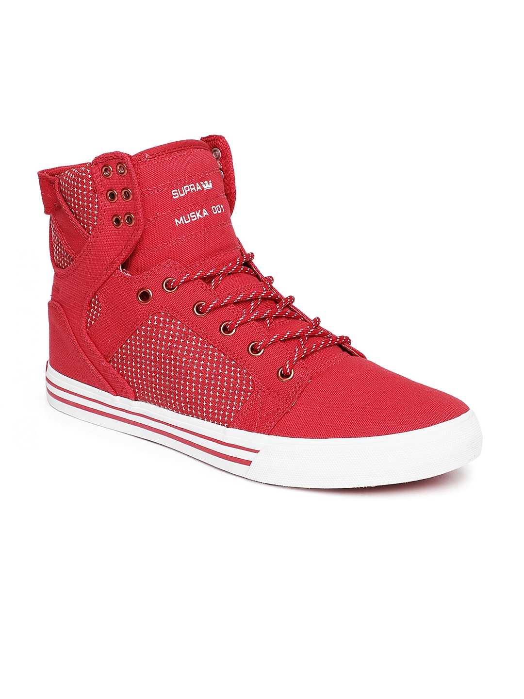 a9cf2d61e563 Buy Supra Men Red Formula One SKYTOP Sneakers - Casual Shoes for Men ...