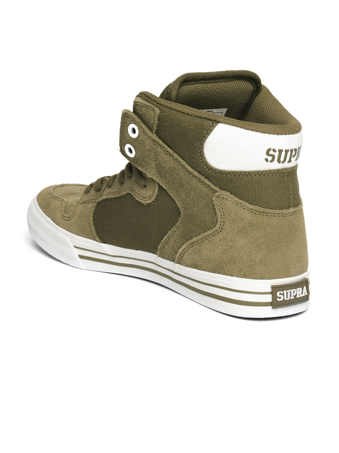 cdf3c15964c4 Buy Supra Men Olive Green VAIDER High Top Sneakers - Casual Shoes ...