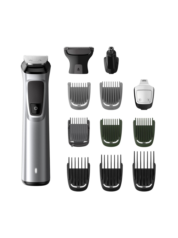 Philips Men MG7715/15 Series 7000 13 in  1 Hair, Face   Body Multigroomer Trimmer   Grey
