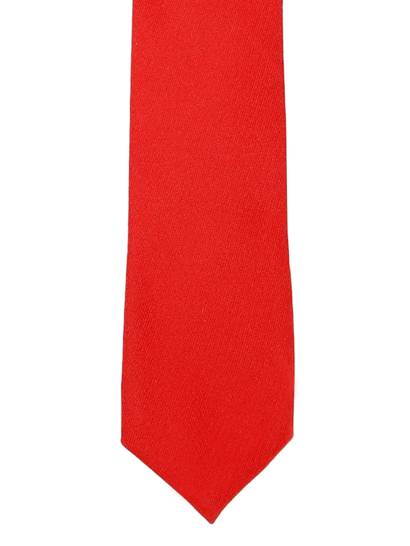 Blacksmith Men Red Solid Skinny Tie