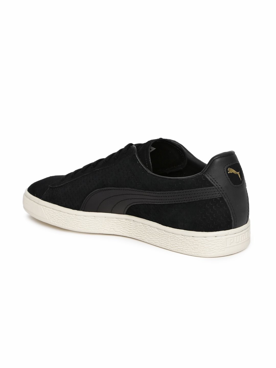 66d6f7b9752 Buy Puma Men Black Suede Classic Perforation Sneakers - Casual Shoes ...