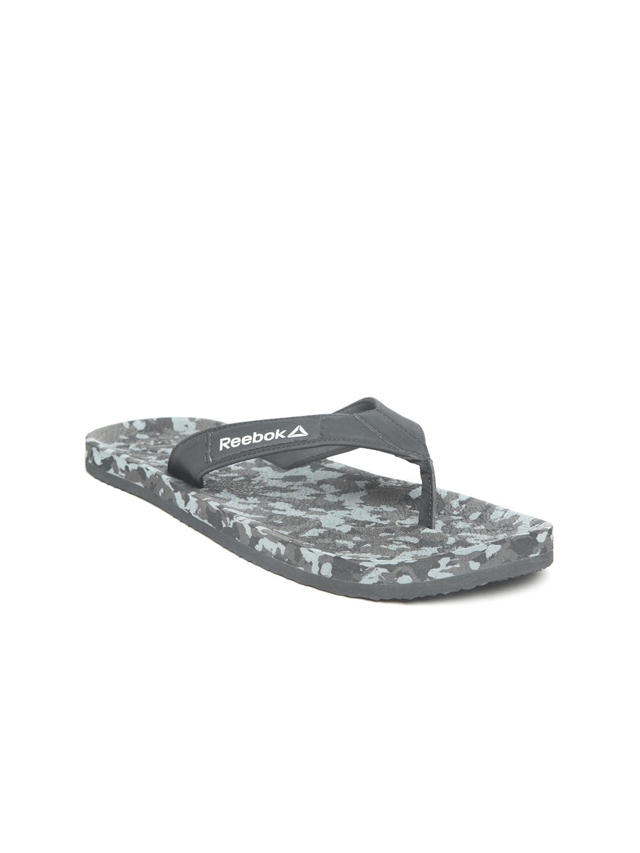 360c7a9fdf82 Buy Reebok Men Black   Grey ADV Enhanced Printed Thong Flip Flops ...