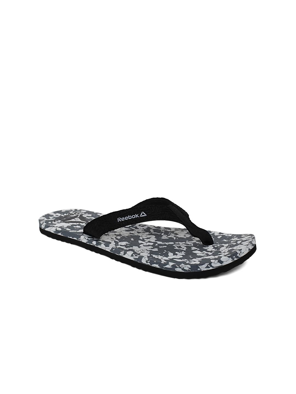 c6ae70eaa31cd Buy Reebok Women Grey   White Marble 2.0 Printed Thong Flip Flops ...