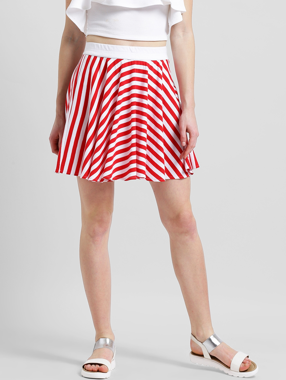 94ef5d722d Buy Texco Women Red & White Striped Flared Mini Skirt - Skirts for ...