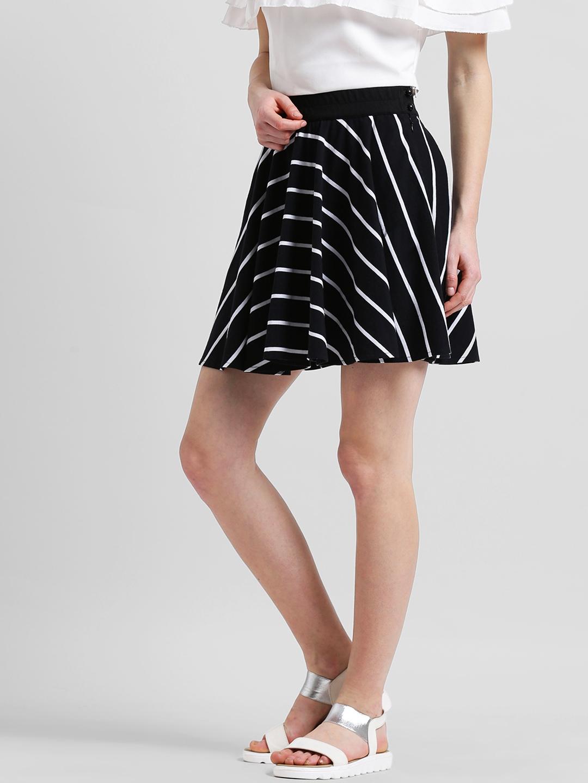 fe51d7ab0 Buy Texco Women Black & White Striped Flared Mini Skirt - Skirts for ...