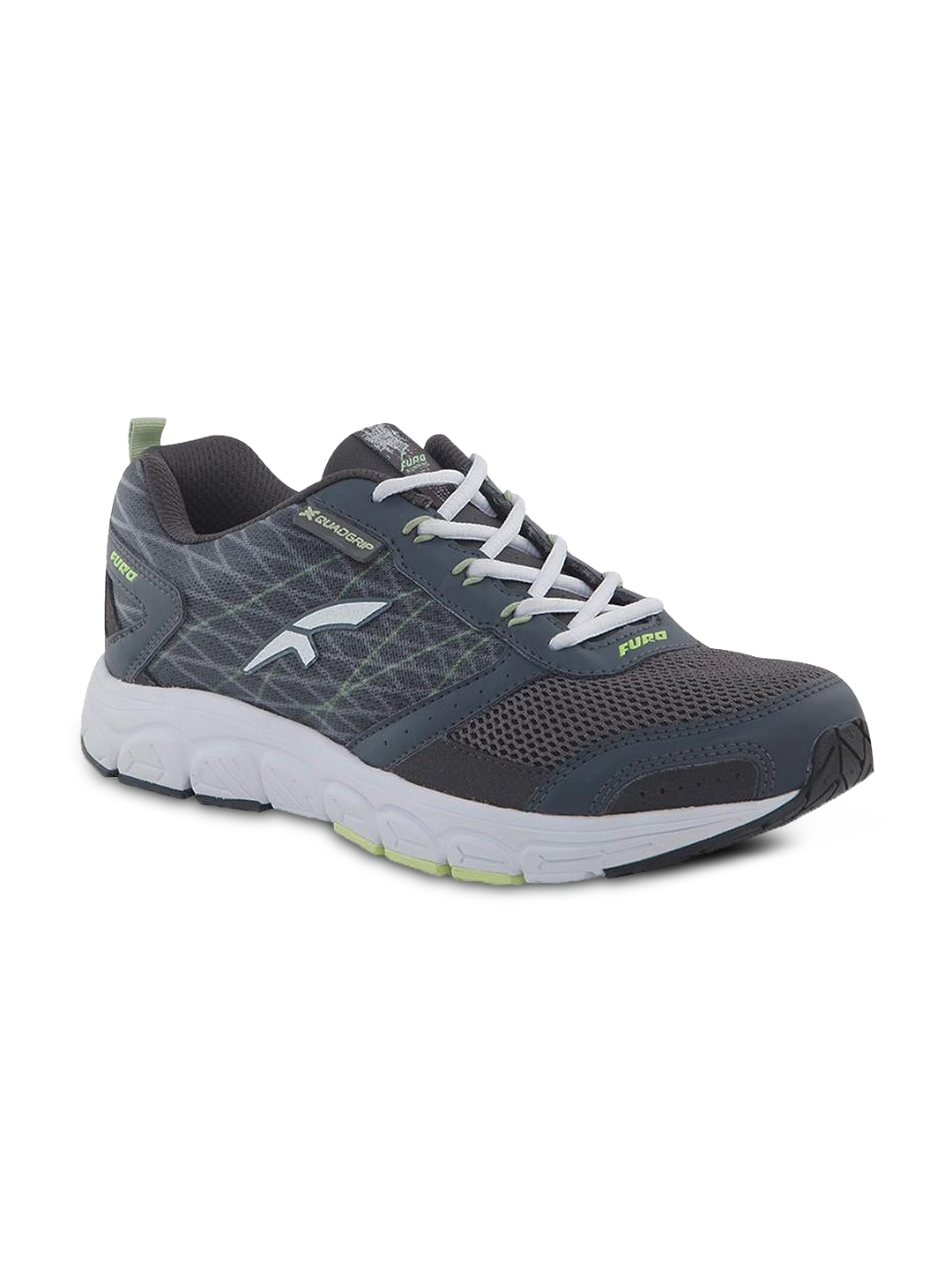 f50ee8ab21e FURO by Red Chief Men Grey Mesh Mid-Top Running Shoes R1001 CASTOR GREY  PERISCOPE