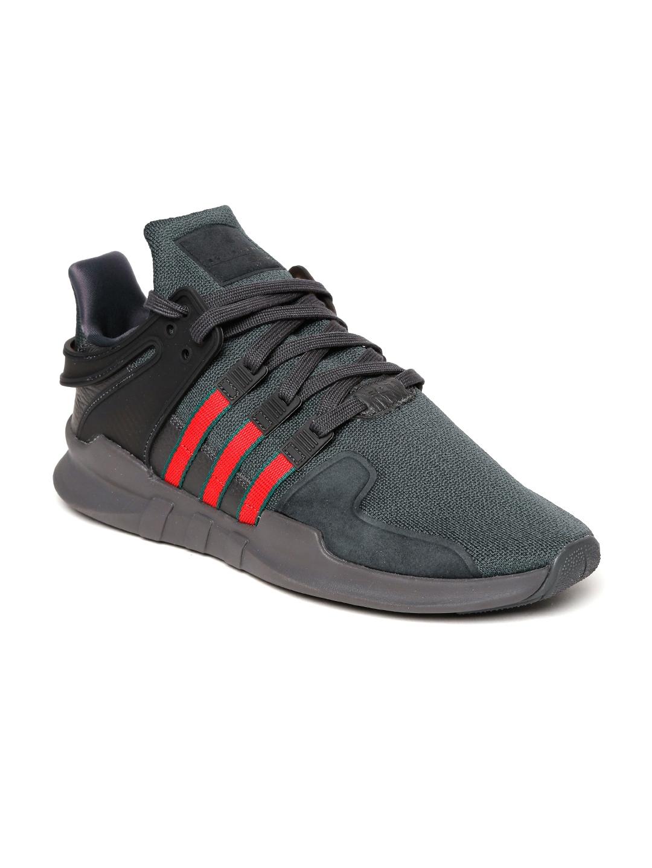 a6577a67a34766 Buy ADIDAS Originals Men Charcoal Grey EQT Support ADV Sneakers ...