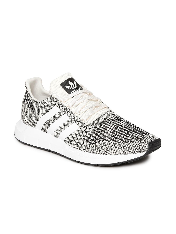 d1dd865834e ADIDAS Originals Men Beige   Black Swift Run Woven Design Sneakers