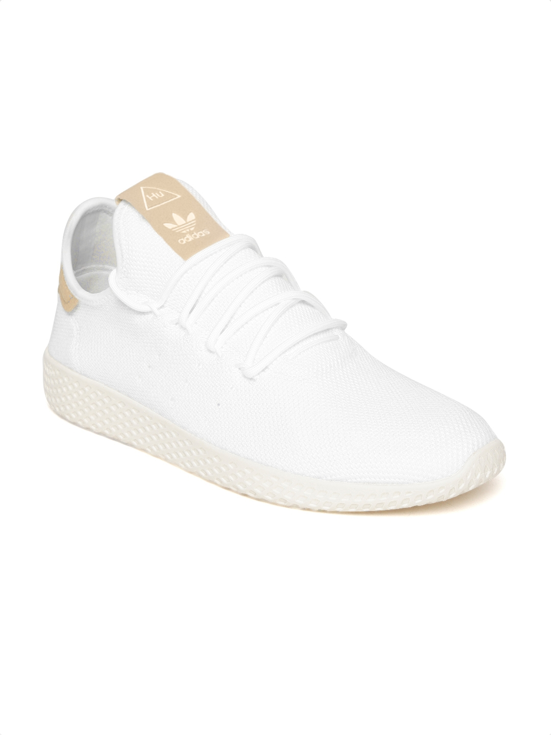 bc0a28e185 Buy ADIDAS Originals Men White PW Tennis HU Woven Design Sneakers ...
