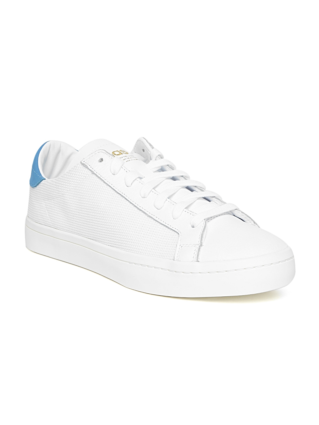 promo code aae27 921dd ADIDAS Originals Men White Court Vantage Sneakers