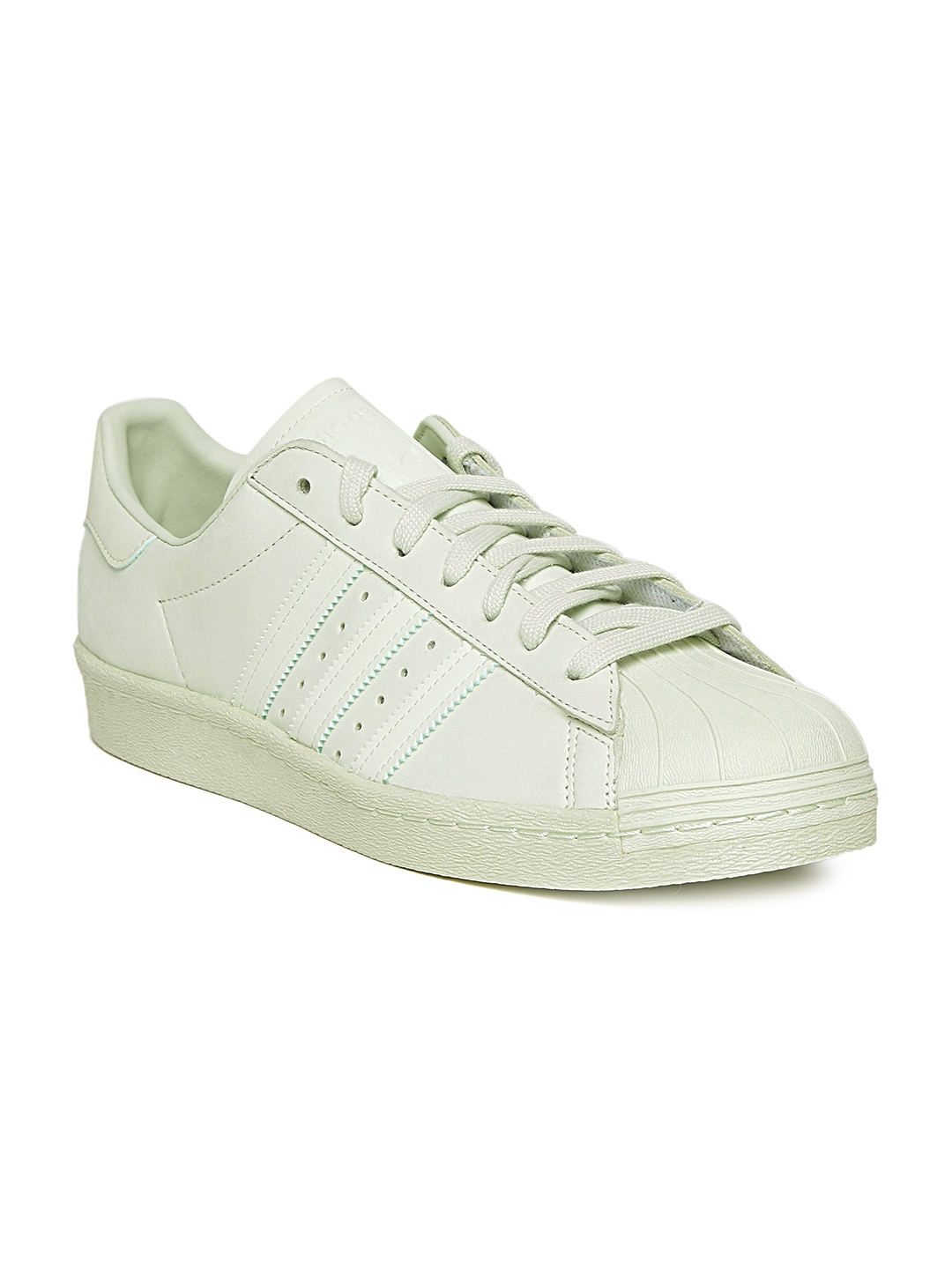 f7ae856207e0 Buy ADIDAS Originals Men Light Green Superstar 80S Leather Sneakers ...