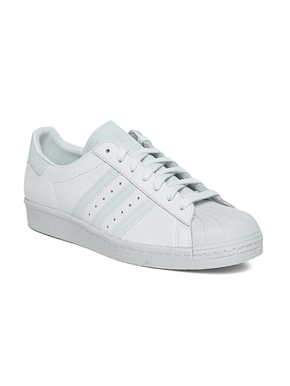 a8e40a740b45d4 Buy Adidas Originals Men Light Blue Superstar 80S Leather Sneakers ...