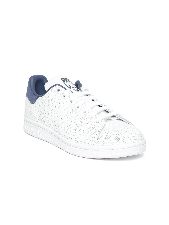 8752a7ebc10b ADIDAS Originals Women White STAN SMITH Leather Textured Sneakers