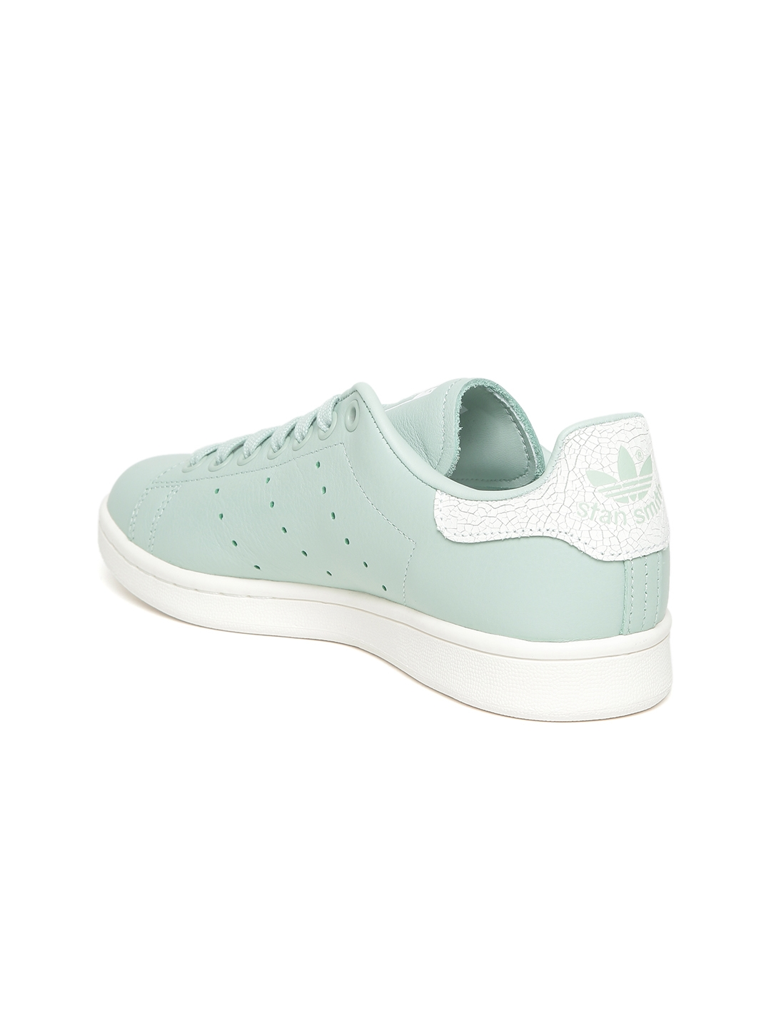 new arrival 813bf bc6ad ADIDAS Originals Women Mint Green Stan Smith Leather Sneakers
