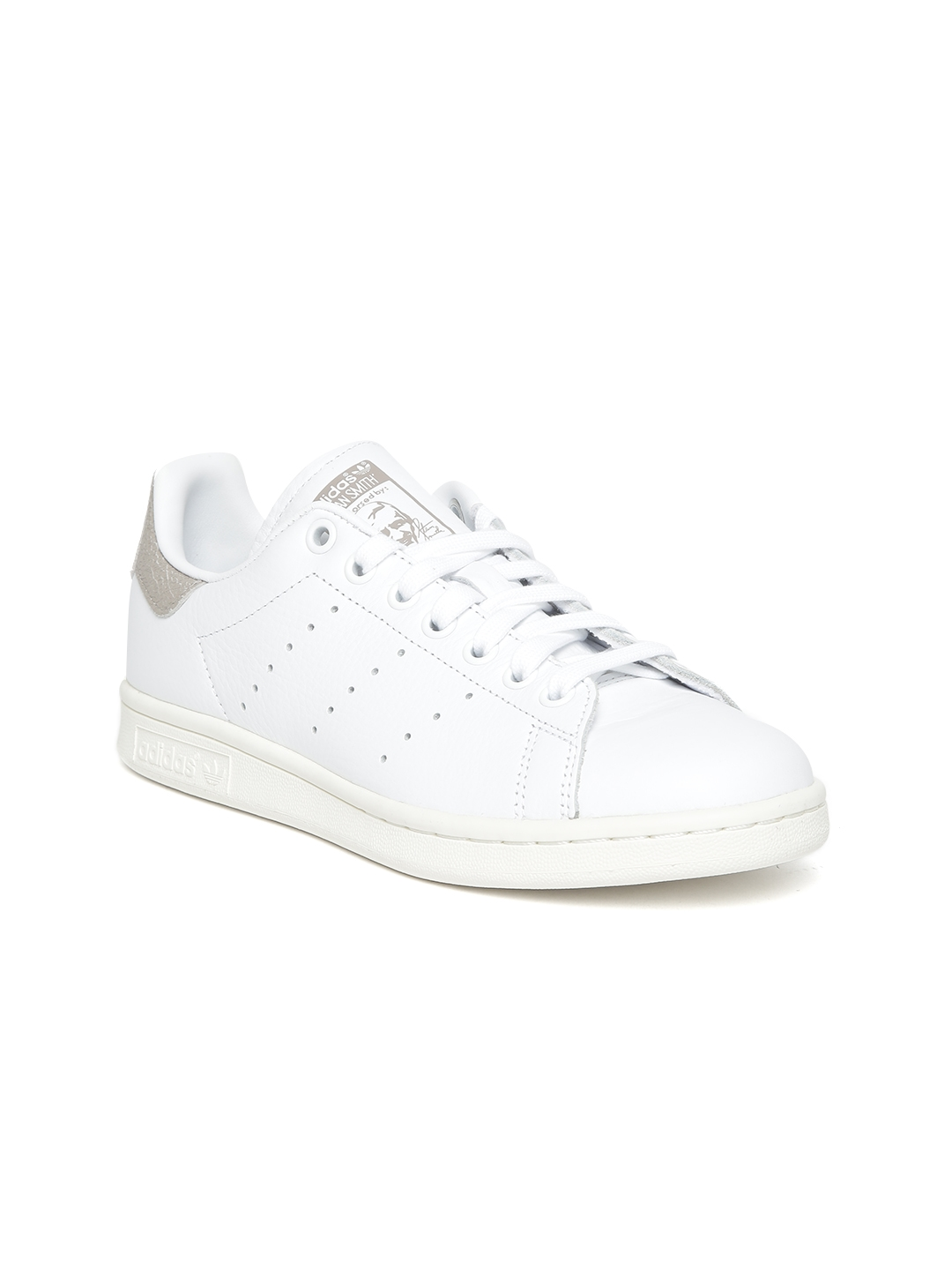 Buy Adidas Originals Women White Stan Smith Leather Sneakers ... 3a5f6aee6f